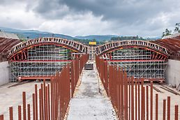 Tunel Sopot, sa dve tunelske cevi dužine po 184 m. Projektno rešenje na bazi sistemskih elemenata štedi vreme i novac.