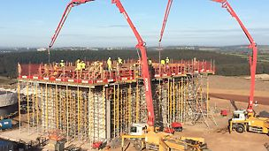 VARIO is a high load bearing wall formwork system using PERI GT24 Girders