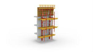 El sistema trepante sobre rieles RCS de PERI: El sistema modular de trepado de uso universal y para las más diversas aplicaciones.
