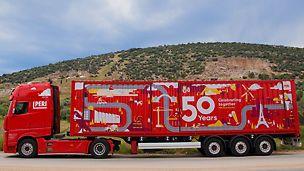 Der PERI Party Truck besucht die Tochtergesellschaften