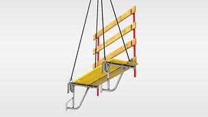 ASG 70-100 pracovná lávka - Pracovná lávka pre stiesnené pracovné priestory so šírkou podlahy 70cm, ktorá sa dá rozšíriť až na 100cm.
