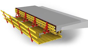 Consola ligera para reparación, así como construcción de puentes