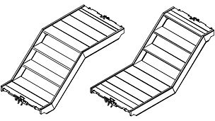 Gerüsttreppe UAS 75 x 150/50 S Gerüsttreppe UAS 75 x 150/50 T