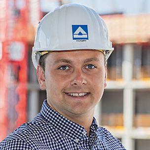 Porträt von Tobias Knappke, Bauleiter bei Hochtief Building GmbH, München