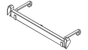 """Mit dem an eine Treppenstufe eingehängten """"Riegel an Treppe"""" lassen sich Höhenausgleiche bis zu 50 cm als Rampe mittels Industriebelägen schaffen."""