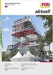Cover der 1. Ausgabe des Kundenmagazins PERI aktuell Deutschland für das Jahr 2013