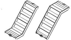Gerüsttreppe UAS 75 x 150/100 S Gerüsttreppe UAS 75 x 150/100
