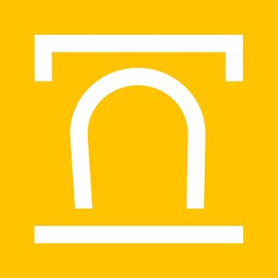 Symbol for transitional structures, which link above-ground traffic routes with the underground routing.