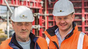 Porträt von Peter Göbel, Polier und Nico Nicolaus, Bauleiter bei Beton- und Monierbau GmbH, Nordhorn