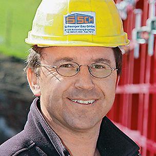 Portrait von Sylvester Schweiger, Geschäftsführer von Schweiger Bau GmbH in Rettenberg