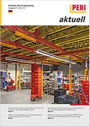 Cover der 2. Ausgabe des Kundenmagazins PERI aktuell Deutschland für das Jahr 2014