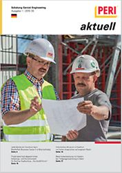 Cover der 1. Ausgabe des Kundenmagazins PERI aktuell Deutschland für das Jahr 2015