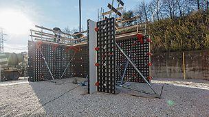 Ohne Anker lassen sich rechteckige und quadratische Säulen mit Kantenlängen von 15 bis 55 cm im 5-cm-Raster schalen.