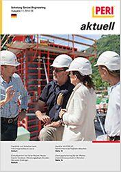 Cover der 1. Ausgabe des Kundenmagazins PERI aktuell Deutschland für das Jahr 2014