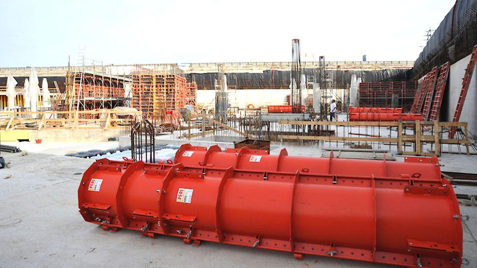 Kilometro rosso, cassaforma SRS per pilastri circolari