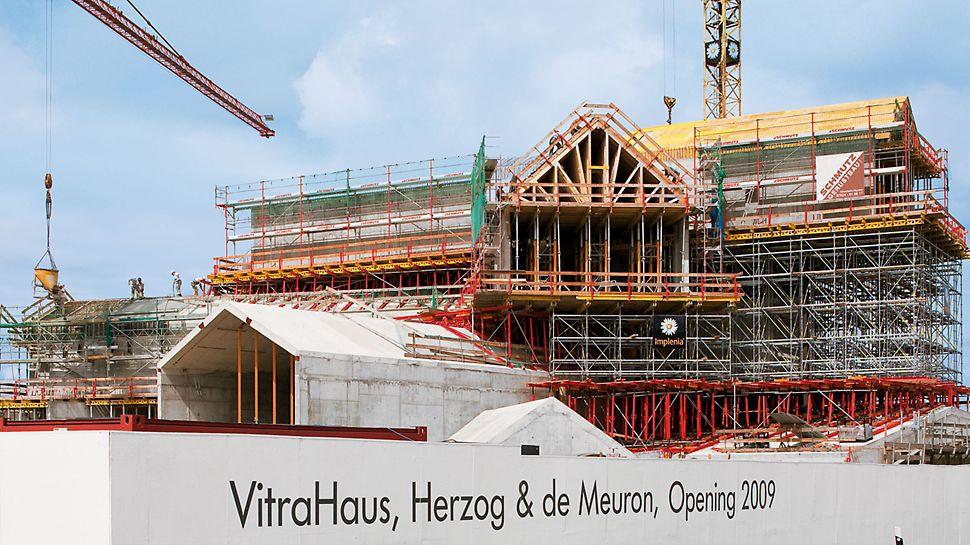 VitraHaus, Weil am Rhein, Deutschland - Nur 10 Monate Bauzeit benötigte das Baustellenteam zur Realisierung des neuen Ausstellungsgebäudes.