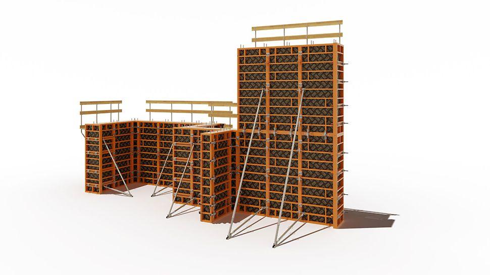Крупнощитовая опалубка, рамнощитовая опалубка, опалубка стен, опалубка фундаментов, стальная опалубка, металлическая опалубка, опалубка купить