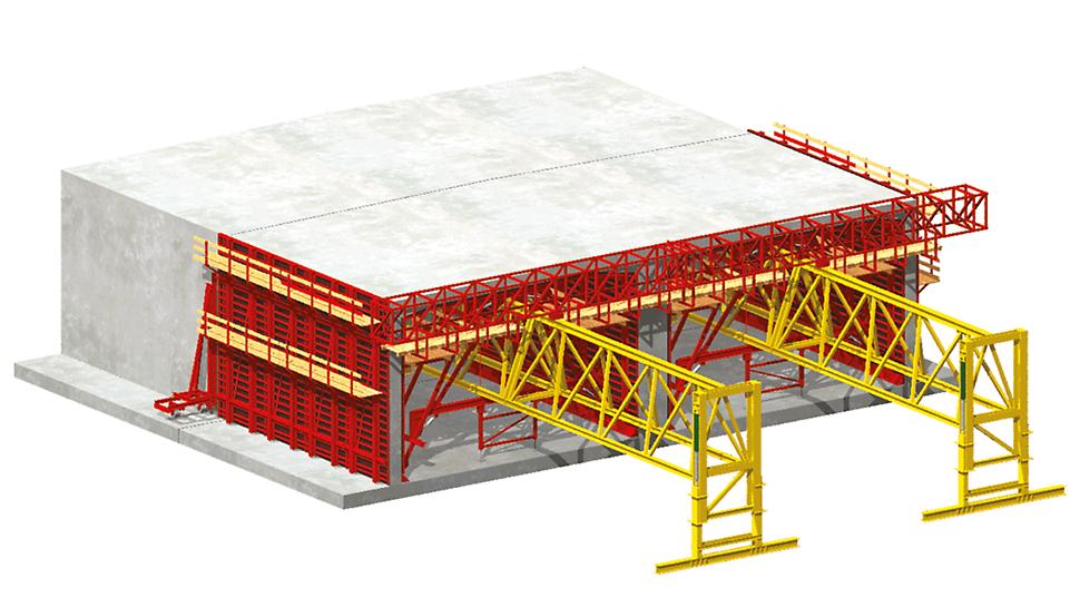 VARIOKIT Tunnel konstruktionsystem: Diagram för tunnel med monolithic open metod – Variant 2