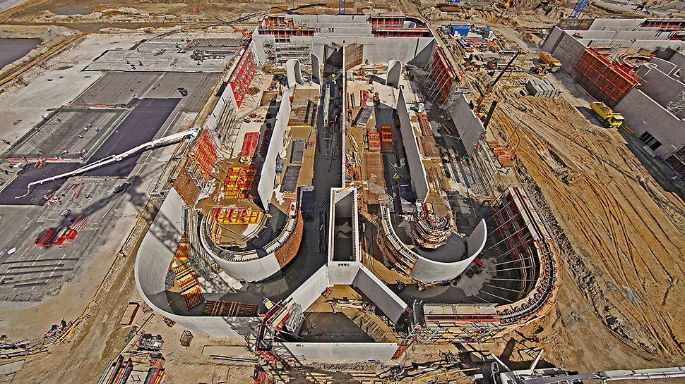 Stația de epurare Czajka, Varșovia, Polonia - Stația de epurare de mari dimensiuni de la Czajka este compusă dintr-un ansamblu de structuri complexe individuale cu dimensiuni impresionante.
