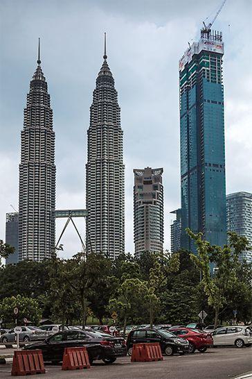 Direkt neben den markanten Petronas Towers entsteht ein weiteres, architektonisches Highlight in Kuala Lumpur: das Four Seasons Hotel.