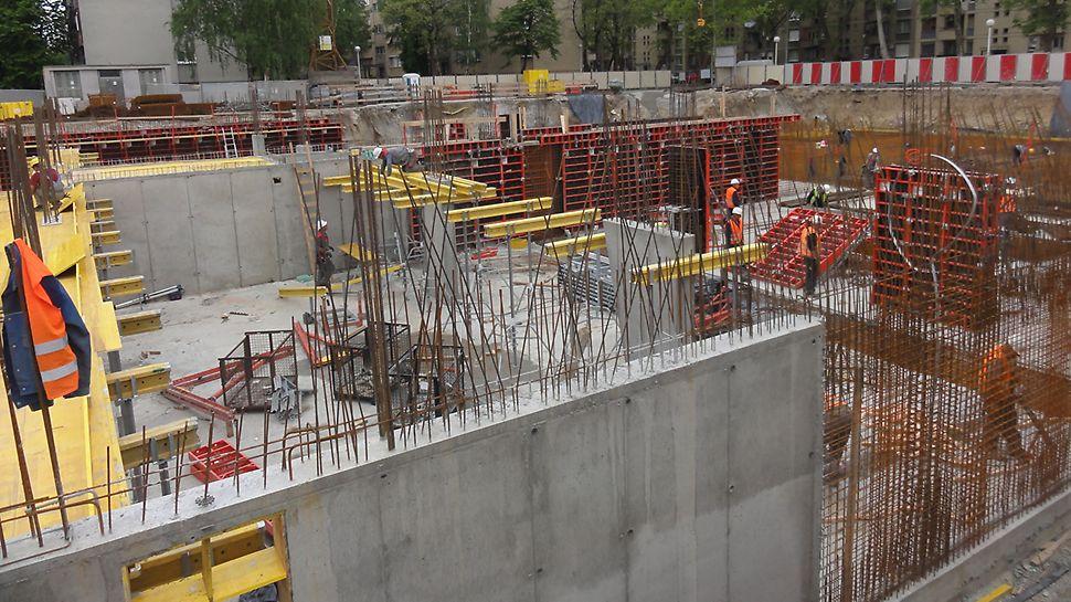 Kombinacija PERI zidne i stropne oplate pridonijela je učinkovitom i nesmetanom tijeku gradnje.
