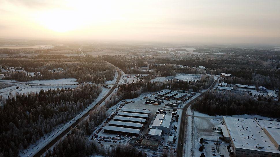 PERI Suomen toimisto- ja varastotilat Hyvinkäällä.