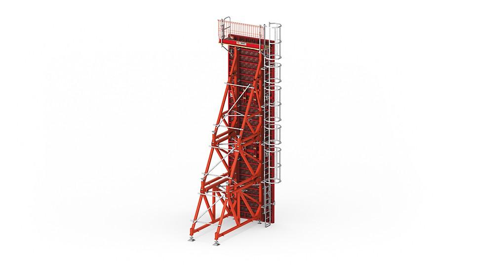 SHormigonado confiable de muros a una cara hasta 8,75 m de altura