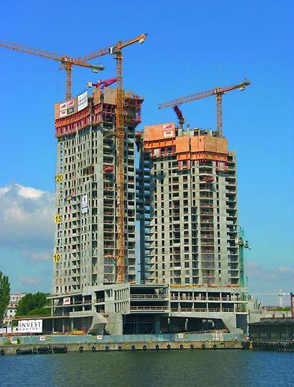 Sea Towers: osłony RCS zamykały szczelnie trzy najwyższe kondygnacje