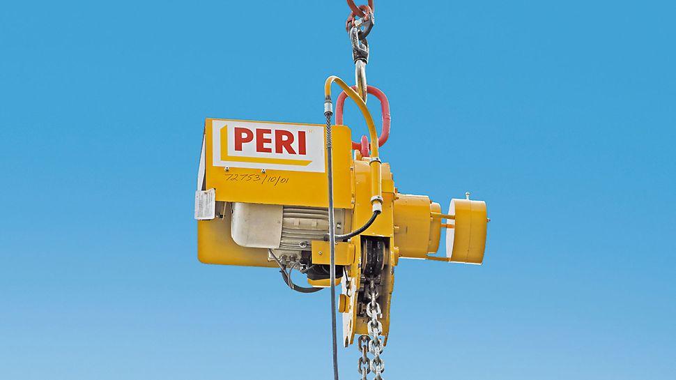 Zawiesie STM jest zdalnie sterowane i utrzymuje stół w pozycji poziomej w trakcie transportu.