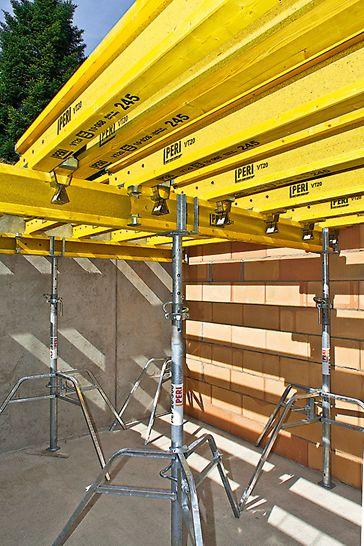 Die Wahl der Schalungsträger sowie ihrer Abstände erfolgt nach projektspezifischen Anforderungen. MULTIFLEX steht damit für wirtschaftliches Arbeiten bei jedem Grundriss.