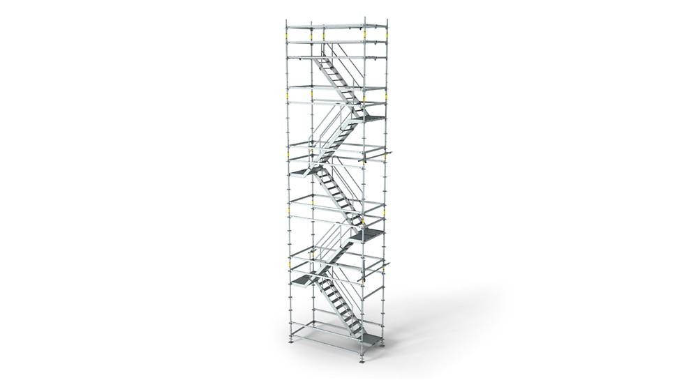 La escalera de andamio ligera para soluciones de acceso flexibles