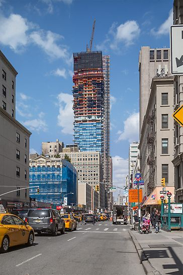 The Swiss team of architects, Herzog & de Meuron, designed the exceptional, 250 m high residential tower in Manhattan.