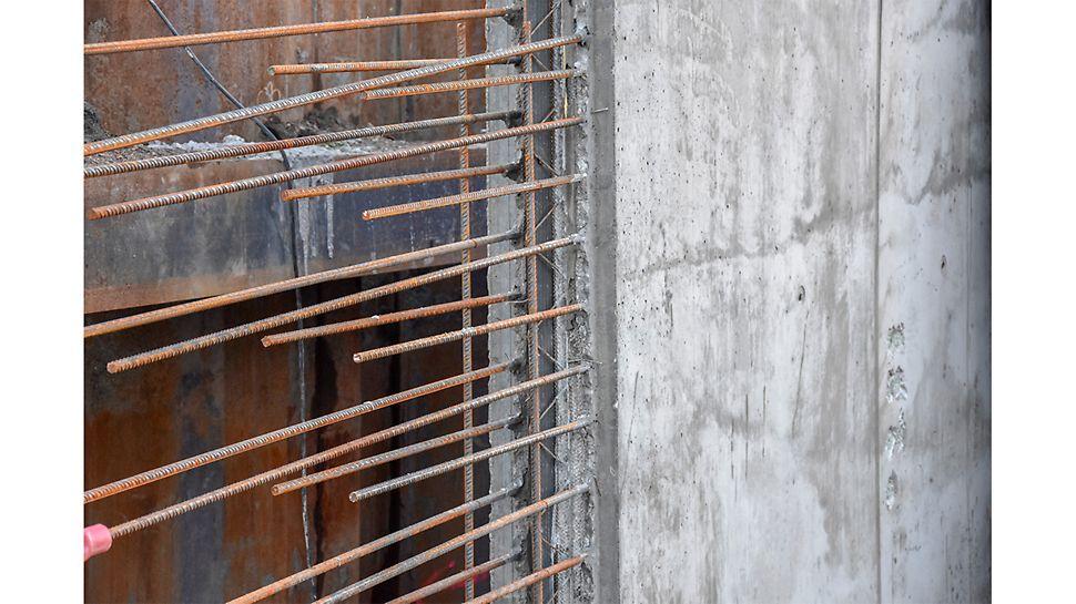 Støpesteng med CEMflex,veggskjøt