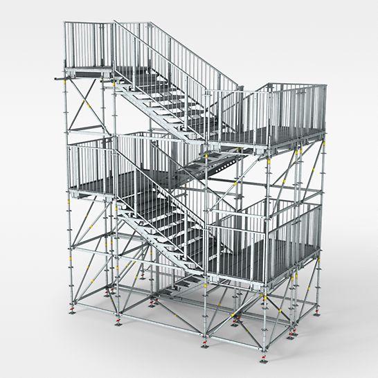 PERI UP Rosett Treppe Public - Als Fluchttreppe bei öffentlichen Gebäuden
