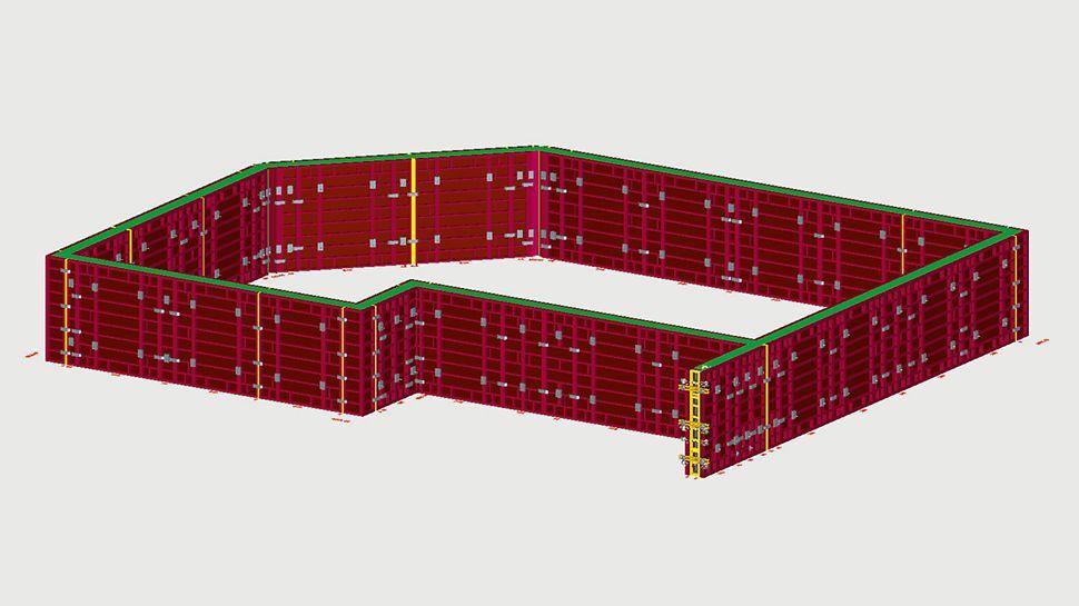 Navrhování v programu ELPOS je snadné a rychlé; znalosti CAD nejsou nutné. Výsledkem jsou také zobrazení ve 3D.