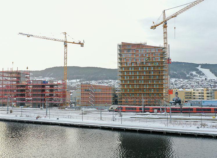Drammen stasjon - leveranse av ca 7.500 m2med PERI UP