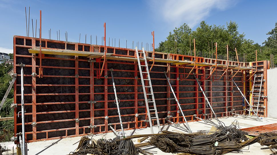 Belaria Koliba, Bratislava, Slovensko - Spoločnosť PERI prispela k napredovaniu projektu stavby okrem iného aj dodaním debnenia TRIO.
