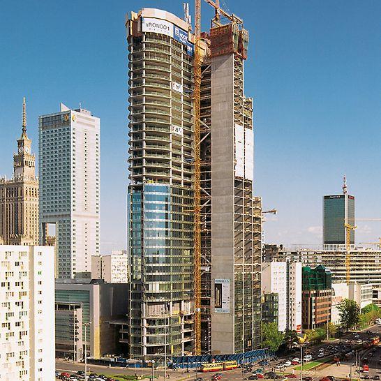 RONDO 1, Varšava, Poljska - 40-etažni projekt nebodera RONDO 1 oblikuje novu, zanimljivu siluetu varšavskog financijskog središta.
