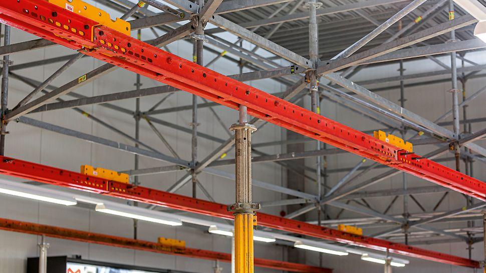 Die Verwendung standardisierter System- und Verbindungsbauteile beschleunigte die Montagezeiten und wirkte sich zudem statisch positiv auf die PERI Kombinationslösung aus.