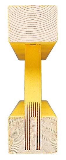 Le nœud de la poutrelle à mini-assemblage assure la durabilité de la poutrelle treillis GT 24.