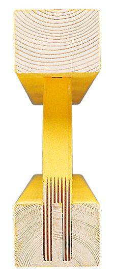 El nudo con pequeñas cuñas encastradas asegura la larga vida útil de la viga GT 24.