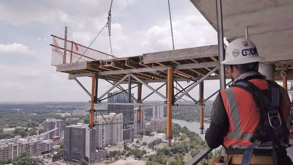 DPR Construction reviews PERI's SKYTABLE slab table formwork system used on two projects in Austin, Texas.