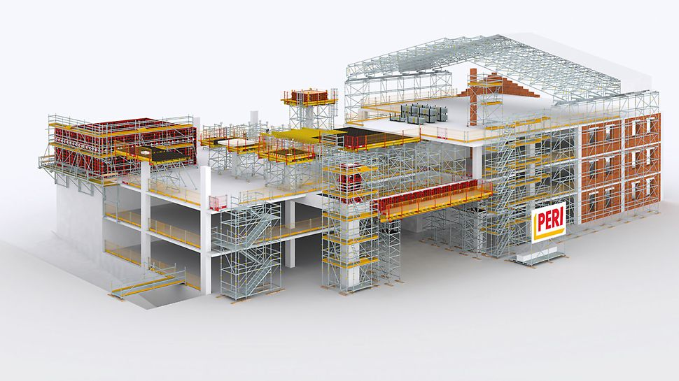 PERI UP for building construction projects – The modular scaffolding kit for versatile use on construction sites