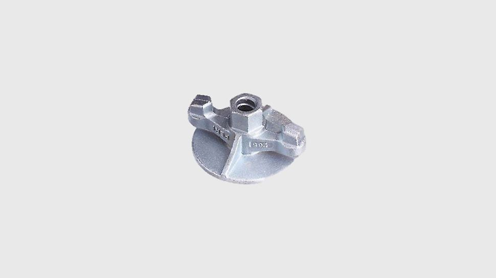 Wingnut Counter Plate, for anchoring with tie rod Ø15