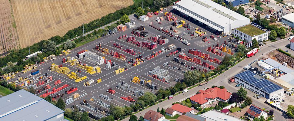 Luftbild PERI Niederlassung Frankfurt | Lorscher Straße 20 | 68642 Bürstadt
