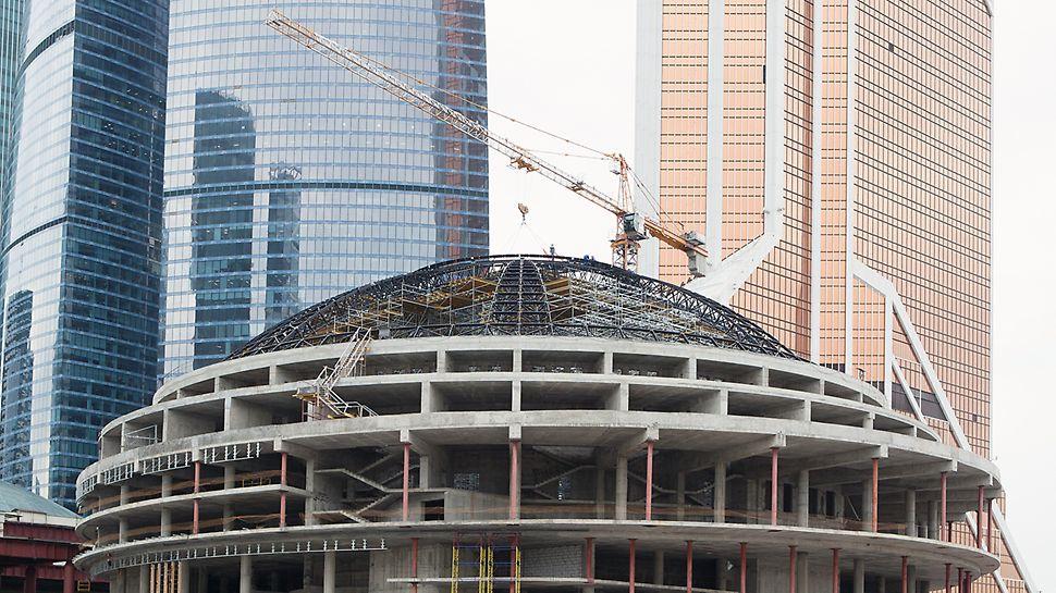 Сферический купол киноконцертного зала в Москва сити