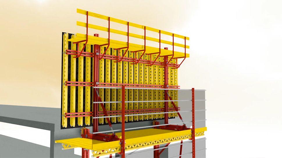 Der universelle Kletterbaukasten für unterschiedlichste Anwendungen. Einsatz als Schienenkletterschalung.