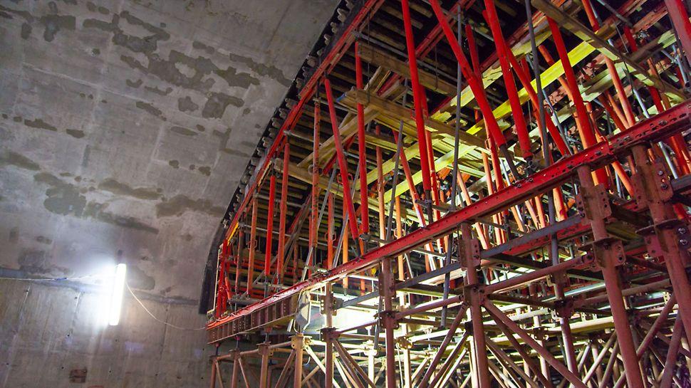 строительство туннелей, монолитное строительство туннелей, опалубка для туннелей, опалубка peri