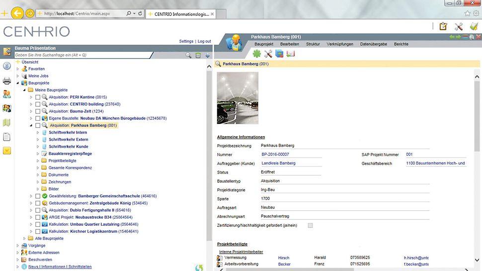 Alle Daten und Informationen zu einem Bauprojekt zentral in einem System.