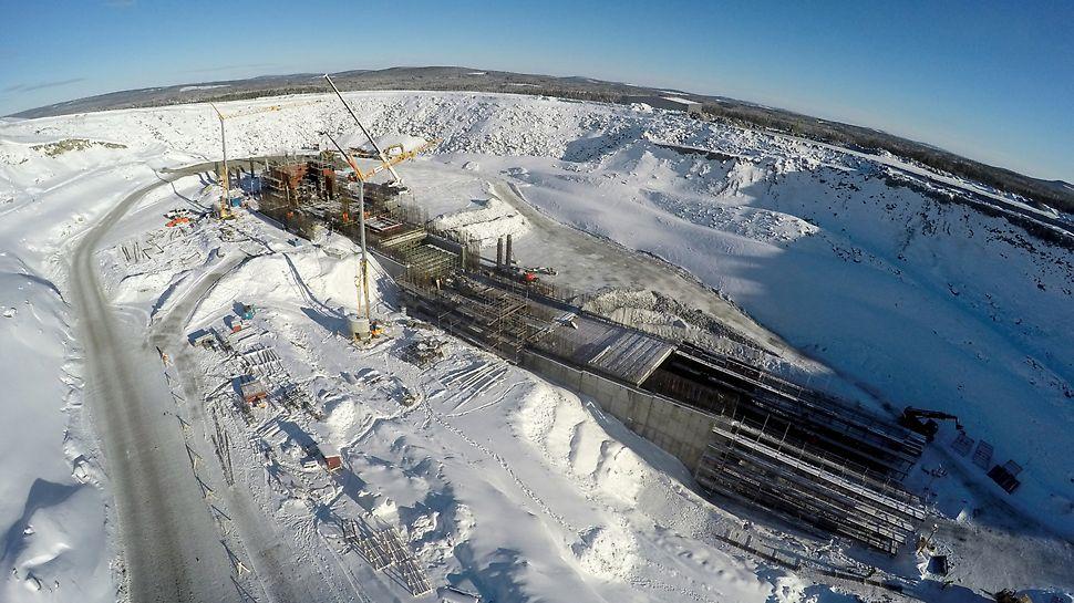 Sveriges största och världens mest effektiva koppardagbrott, där det bryts kopparkis (koppar, guld och silver) dygnet runt.